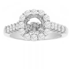 Engagement Ring in 14K White Gold- Emma; 0.71 ctw
