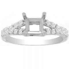 Julietta Split Engagement Ring in 14K White Gold; 0.32 ctw