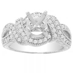 Celestina Engagement Ring in 14K White Gold; 0.50 ctw