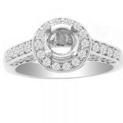 Diamond Engagement Ring in 14K White Gold- Rosaleen; 1.00 ctw