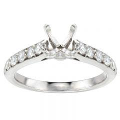 Angelica 14K White Gold Diamond Engagement Ring