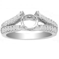 Rae Split Shank Diamond Ring Setting in 14K White Gold; 0.50 ctw