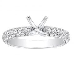 Alisa Pave Diamond Engagement Ring in 14K White Gold; .75 ct
