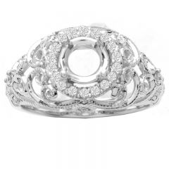 Luxurious 14KWG Vintage Diamond Ring; 0.26 ctw