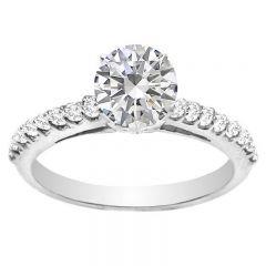 Fleur de Lis Diamond Engagement Ring