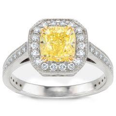 Mila Yellow Diamond Engagement Ring