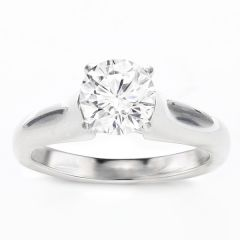 Damaris 14K White Gold Solitaire Engagement Ring