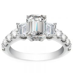 Adria Engagement Ring in 14K White Gold; 1.98 ctw