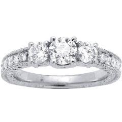 Vila Three-Stone Engagement Ring