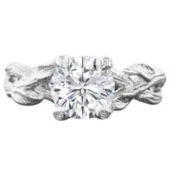 Inverna Solitaire Nature Setting in 14K White Gold
