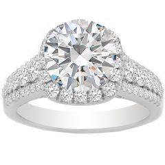 Ally Halo Diamond Engagement Ring; 0.90 ctw