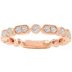 Maisie Diamond Wedding Band in 14K Rose Gold; 0.37 ctw