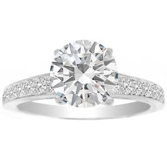 Giona Diamond Ring Setting in 14K White Gold; 0.35 ctw
