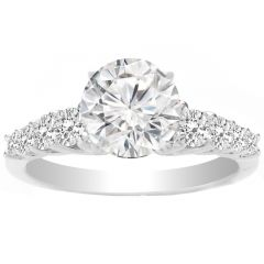 Zinny Engagement Ring in 14K White Gold; 0.46 ctw