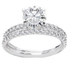Cecilia Diamond Bridal Set in 14K White Gold; 0.60 ctw