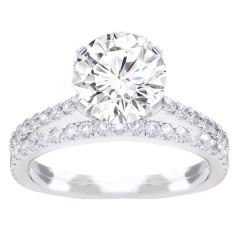 Luna Diamond Bridal Set in 14K White Gold; 0.75ctw