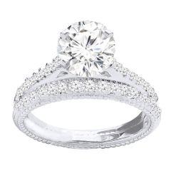 Diamond Bridal Set in 14K White Gold- Nova; 0.32 ctw