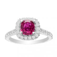 Aimee Ruby Ring in 14K White Gold; 1.18 ctw