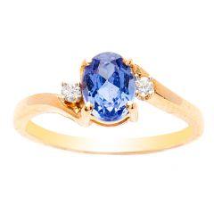 14K Yellow Gold Tanzanite Ring; .50 ctw