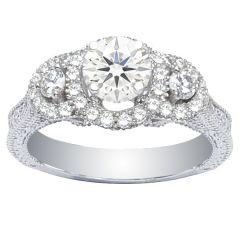 Engagement Ring in 14K White Gold- Dana; 1.25 ctw