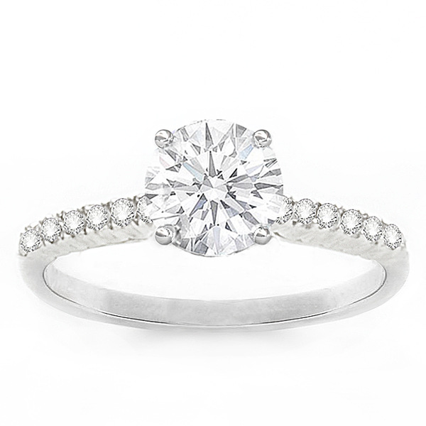 Geneva Solitaire Diamond Engagement Ring in 14K; .15 ctw image 0
