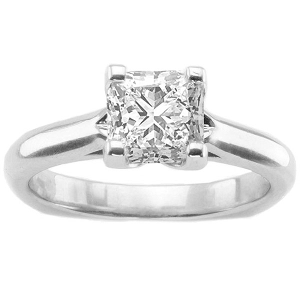 Mimi Solitaire Setting in 14K White Gold image 0
