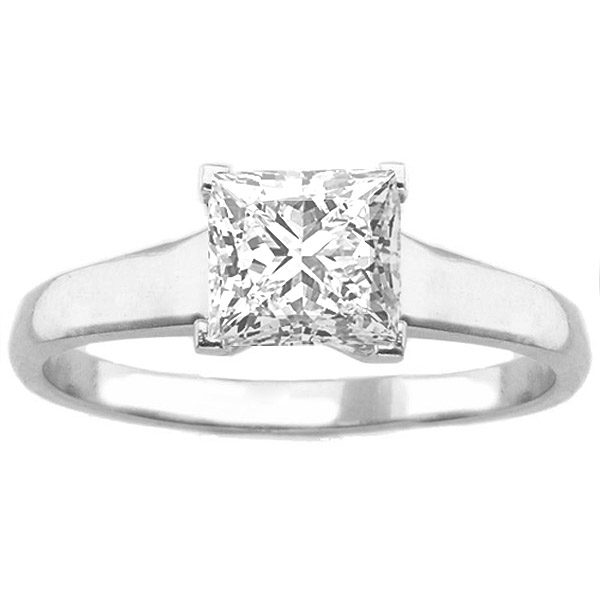 Fiera 14K White Gold Solitaire Engagement Ring image 0