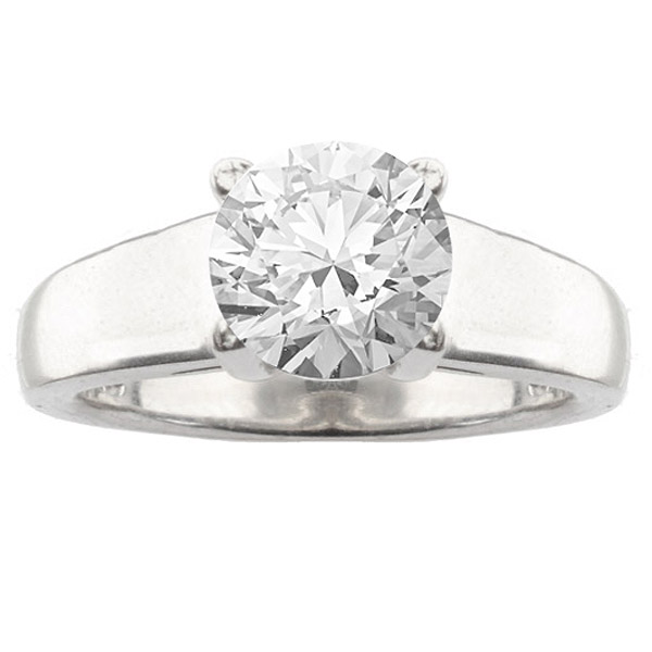 Elia 14K White Gold Classic Solitaire Engagement Ring image 0
