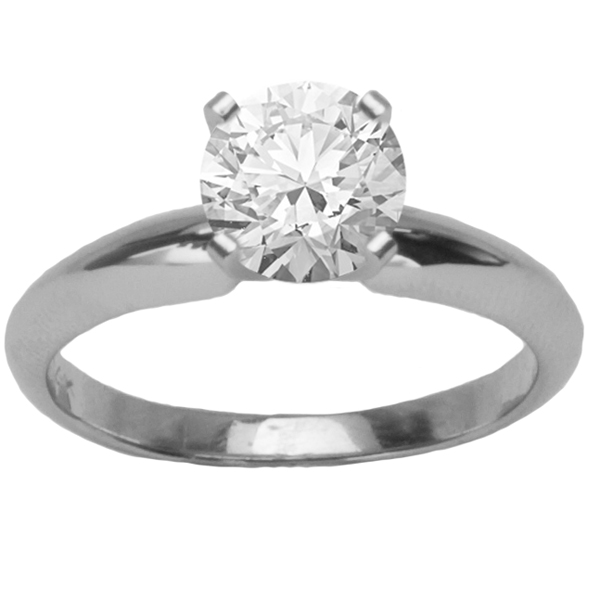Aria Solitaire Setting in 14K White Gold image 0