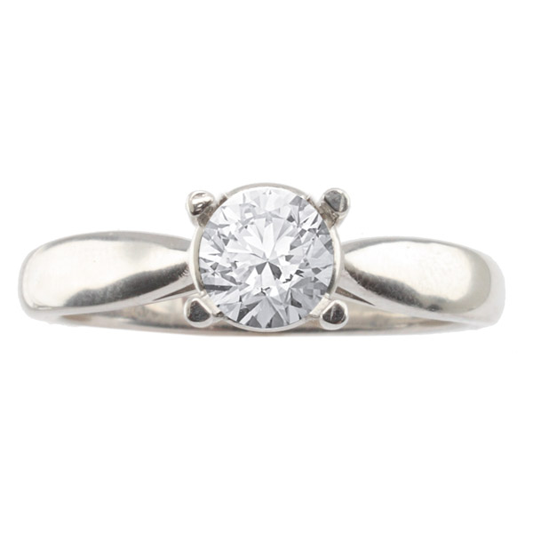 Milna Solitaire Setting in 14K White Gold image 0