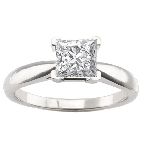 Gabriela 14K White Gold Classic Solitaire Engagement Ring image 0