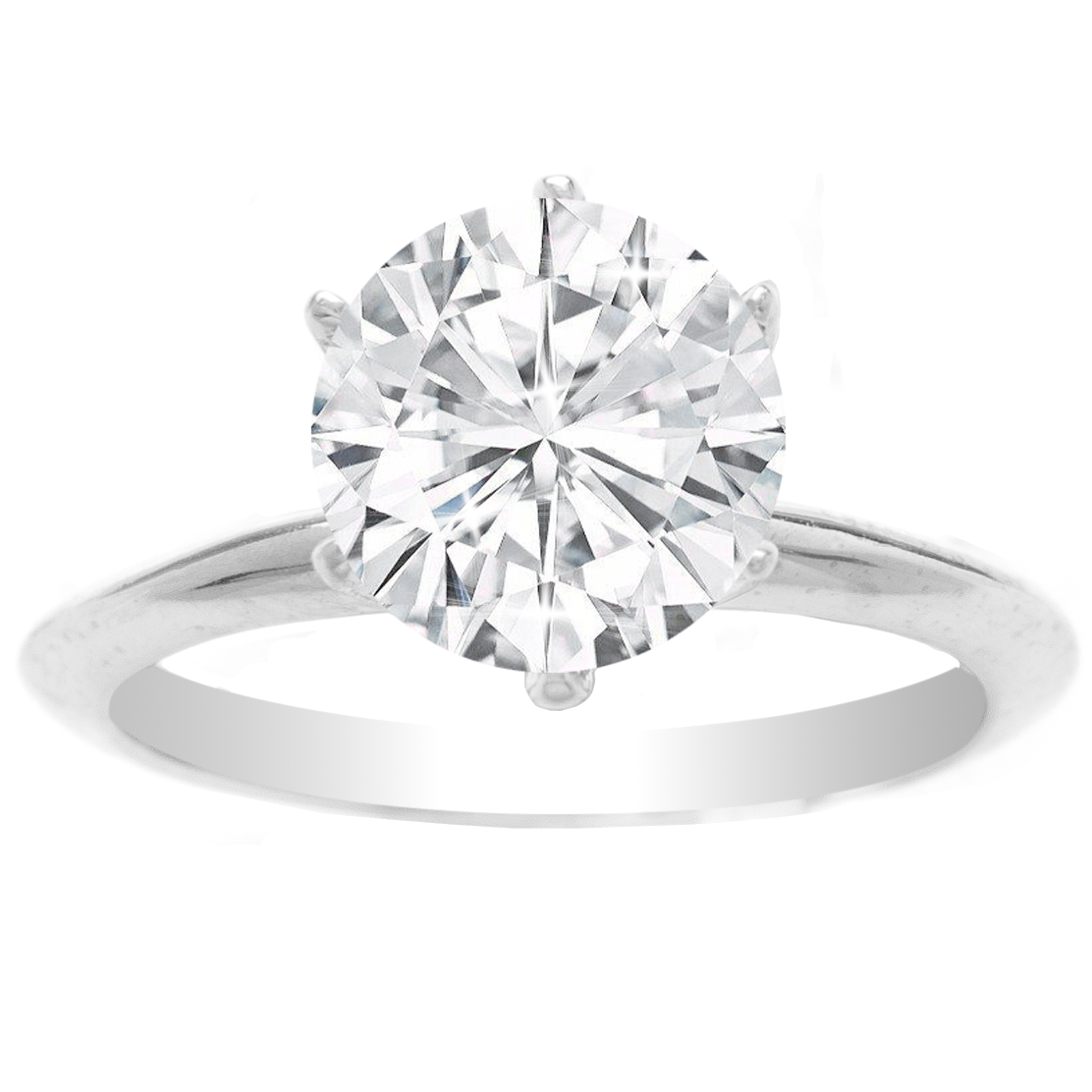 Marina Solitaire Ring Setting 14K White Gold image 2