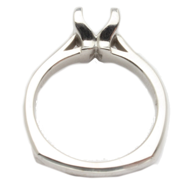 Mimi Solitaire Setting in 14K White Gold image 1