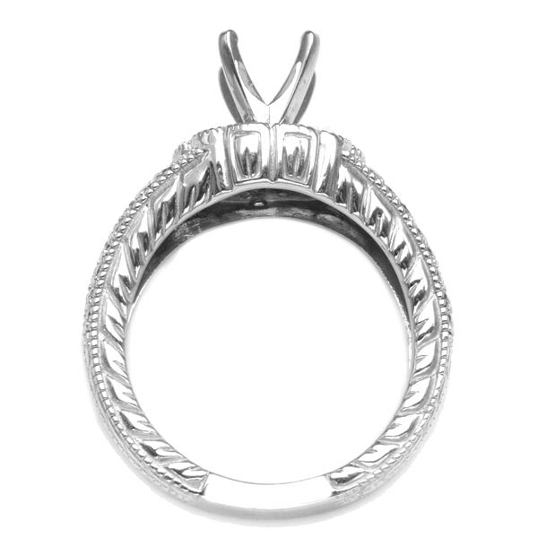 14K White Gold Diamond Engagement Ring; Diamond Weight 0.55 ctw image 1