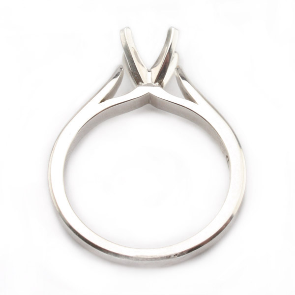 Sophie Solitaire Ring Setting in 14K White Gold image 1