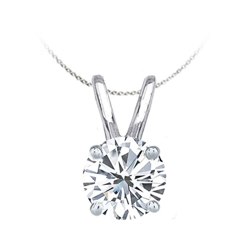 Solitaire inter continental jewelers all about the classic diamond solitaire pendant design and where it can be found in aloadofball Images
