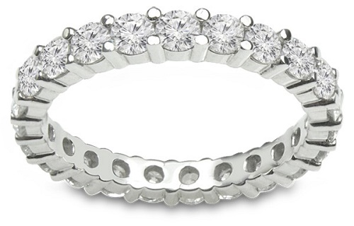 The 14k White Gold Diamond Eternity Wedding Band