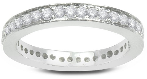 Vivianne White Gold and Diamond Eternity Wedding Band