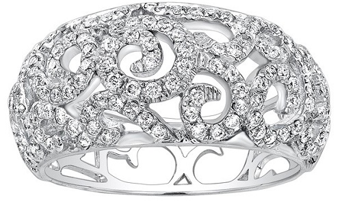 The 14k White Gold Anniversary Diamond Ring