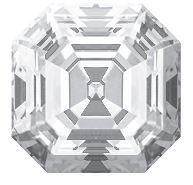 Asscher shape diamond with excellent symmetry