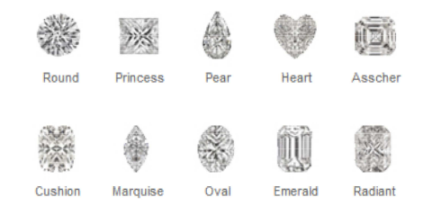 Houston Ring Diamond Shapes