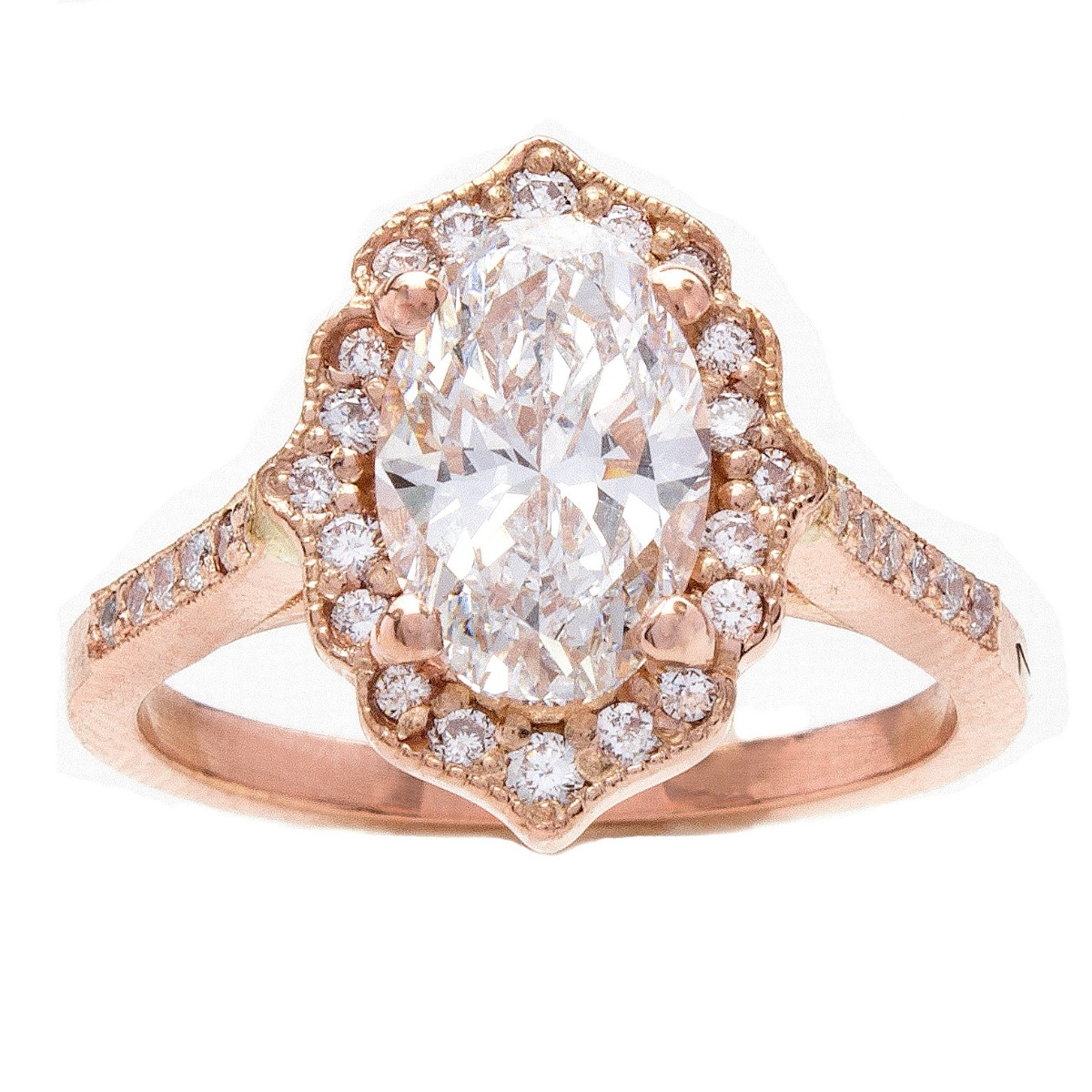 Custom Vintage Inspired Diamond Engagement Ring