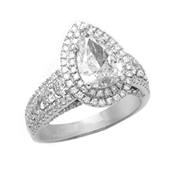 Custom Diamond Engagement Ring White Gold