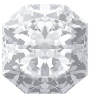 Radiant shaped diamond with 91.3% depth