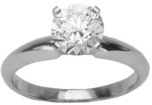 The White Gold Engagement Ring