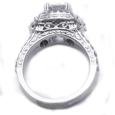 Custom Design Pave Ring side photo without diamonds