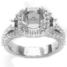 Custom Design Pave Ring top photo without diamonds