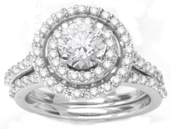Custom Design Pave Ring final photo with 70 diamonds