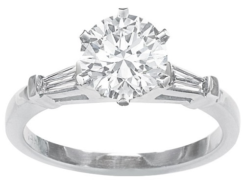 The Monet Baguette Engagement Ring