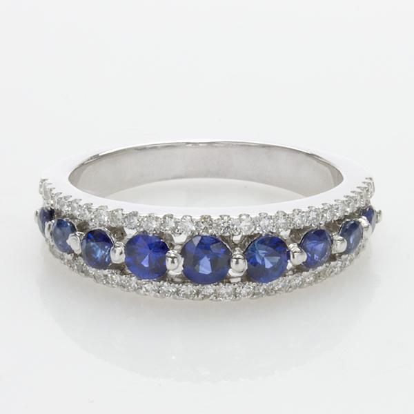 Custom Sapphire & Diamond Band